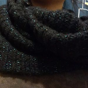 Giant chunky infinity scarf with blue sparkles!